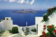 Santorini, den greske øya hvor de fleste postkortene henter sine motiver fra.