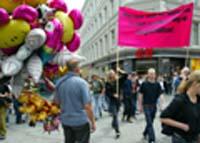 Demonstrasjonen på Karl Johan. (Foto: Lise Åserud, Scanpix)