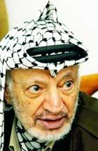 Bush-administrasjonen mener Arafat har drevet et dobbeltspill. (Foto: Scanpix/Reuters/Hussein Hussein)