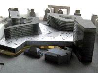 Det nye forslaget fra Office for Metropolitan Architecture. Den gamle Vestbanebygningen er den lille bygningen helt fremst i bildet