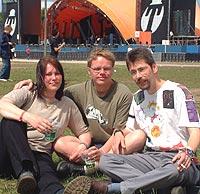 Tre fra den harde kjerne i chatgjengen. Fra venstre: Monica Ask, Fredde Nilson og Hans Jürgen Günther (foto: Jørn Gjersøe).