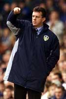 David O'Leary I aksjon under tiden i Leeds der han tok laget til semifinale i mesterligaen- (Foto: Reuters)
