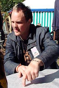 - Som for alle andre er det også for meg en drøm å få spille her på Roskilde, forteller en engasjert Martin Horntveth (foto: Jørn Gjersøe).