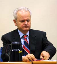 Milosevic i rettssalen i Haag. (Foto: Scanpix)