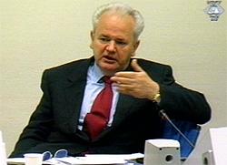 Milosevic drev krysseksaminisasjon.