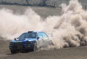 Petter Solberg ligger på fjerde plass i Rally Finalnd.
