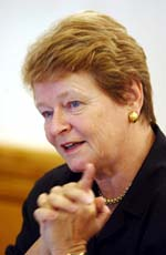WHO-direktør Gro Harlem Brundtland (Foto: Heiko Junge, Scanpix)