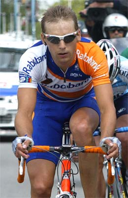 Nederlandske Karsten Kroon vant dagens etappe i Frankrike Rundt. (foto: Reuters)