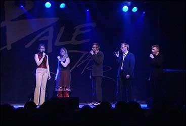 The Real Group frå Sverige i konsert under Balejazz 2002. (Foto: Randi Indrebø, NRK)