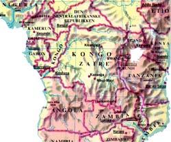 Kongo: Stort land med mange grenser.
