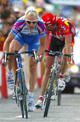 Dario Frigo i aksjon (Foto: Reuters)