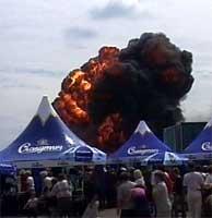 Ulykken i Ukraina er tidenes største på en flyoppvisning.