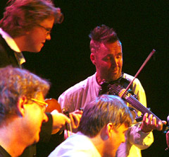 Ola Kvernberg, Per Frydenlund, Jon Larsen & Nigel Kennedy (Foto: Ove Bjørken, NRK)