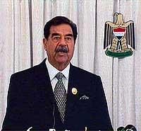 Iraks president Saddam Hussein vil slippe FN-inspektørene inn i landet igjen. (Arkivfoto: Reuters/Irakisk tv)