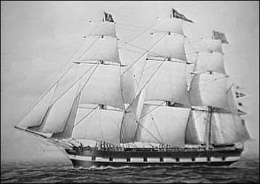 Amerikabåt. (Foto © Vik lokalhistoriske arkiv)