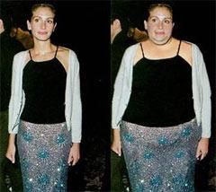 Med et par håndgrep blir slanke Julia Roberts til et fettberg