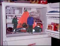 Ferie i kjøleskapet er en kald opplevelse