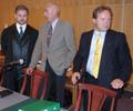 Advokat Svein Aage Valen, styreformann i HSD Jacob Bleie og adm.dir Daginn Neteland