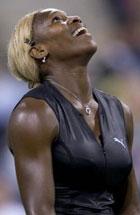 Serena takker høyere makter for at hun vant. (Foto: Allsport)