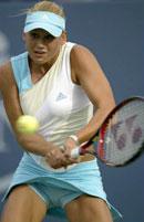 Kournikova hadde ingen sjanser til å gå videre i US Open (Foto: Allsport)