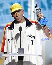 Eminem kommer til Barcelona for å opptre på MTV Music Awards 14. november. Foto: Reuters / SCANPIX.