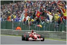 Publikum i Belgia kan ha sett Michael Schumacher for siste gang. (Foto: Allsport)