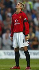 David Beckham skal være frustrert over lite spilletid i Manchester.