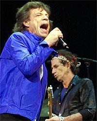Mick Jagger og Keith Richards under åpningen av