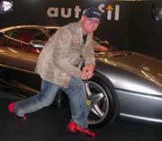 Jan Erik foran en helt grei Ferrari