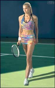 Simonya Popova finnes ikke i virkeligheten, til tross for dette bildet i Sports Illustrated. (Foto: Sports Illustrated)