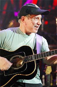 Paul Simon tror krigen vil påvirke sangene hans. Foto: AP / SCANPIX.