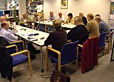 Kommunalminister Erna Solberg har fått mye kjeft fra ordførere denne uka. Disse er fra Nedre Buskerud.