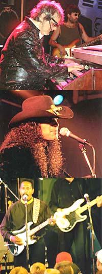 Eric Sardinas (2000), Ike Turner (1997) og Al Kooper (2001) er tre av artistene som har spilt på Tapperiet under Notodden Bluesfestival (foto: Per Ole Hagen, Artist-Pictures.com).
