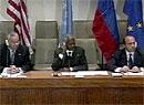 Ivanov, Powell og Annan i FN.