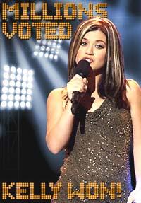kelly Clarkson vant den amerikanske Pop Idol i år. Nå er over 3000 påmeldt i Norge. Foto: American Idol 2002.