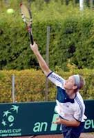 Stian Boretti vant gårsdagens singlekamp mot Claude N'Goran. (Foto: Scanpix)