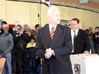 Edmund Stoibers avga sin stemme i formiddag (foto: EBU).