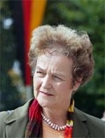 Justisminister Herta Däubler-Gmelins uttalelser ble for drøy kost for både tyskere og amerikanere. (Foto: Scanpix/Reuters/Marcus Ulmer)