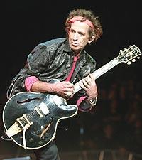 Courtney Taylor har mistet respekten for sitt tidligere forbilde, Rolling Stones' Keith Richards. Foto: REUTERS / Jeff Christensen.