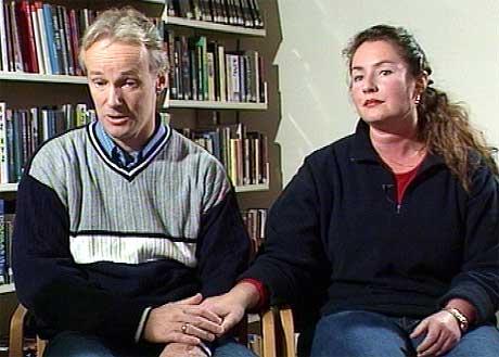 - Vi kan ikke slå oss til ro med dommen, sier Veronica Orderud i intervjuet. (Foto: NRK)