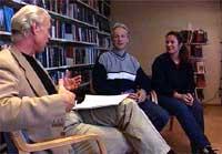 Ekteparet Per og Veronica Orderud stilte opp til intervju i RedaksjonEN med Viggo Johansen onsdag 9. oktober 2002. (Foto: NRK)