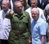 Jimmy Carter og Fidel Castro.