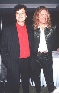 Jimmy Page og Robert Plant i 1996. Foto: Evan Agostini / Liaison.