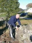 Bygging av steingjerde