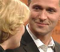 Jens Stoltenberg som privatperson hos Anne-Kat. Hærland