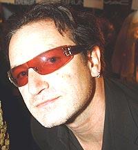 Bono er nominert til Nobels Fredspris sammen med 150 andre. Foto: Mark Mainz / Getty Images.