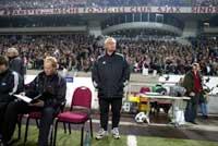 Nils A. Eggen og Ola By Rise på sidelinjen. (Foto: Gorm Kallestad / SCANPIX)