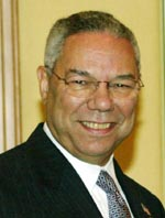 I MIDTØSTEN: Colin Powell har ankommet Jerusalem.