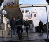Politet går ombord på MF Os 7. november i fjor, da mannskapet ble mistenkt og senere tiltalt for å ha kjørt i påvirket tilstand.(Arkivfoto:Jan Harald Larsen)