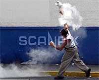 Chavez-tilhenger. Foto: Reuters.